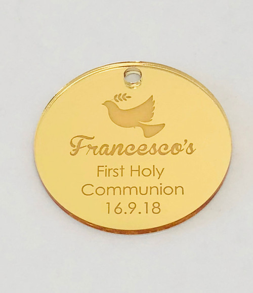 First Holy Communion Personalised gift tags - laser cut in Melbourne Australia