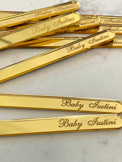 Gold mirror cakesicle sticks