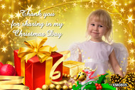 Gold Frankincense and Myrrh themed Christmas cards