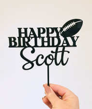 Football Birthday Cake Topper decoration - Personalised Football Cake Decorations