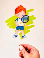 Tennis sports boy cake topper