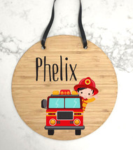 Personalised boys bedroom name plaque