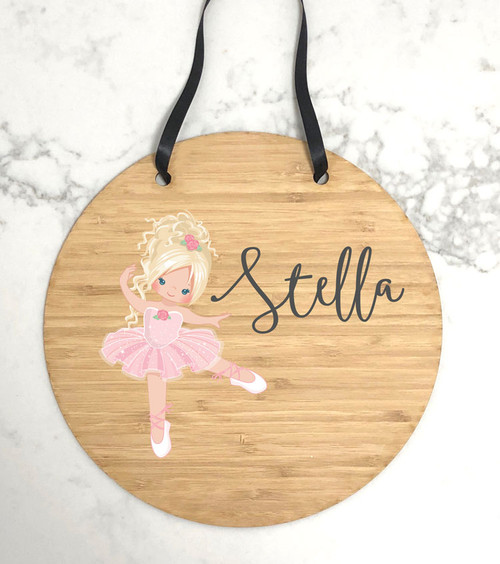 Personalised kids bedroom wall plaque
