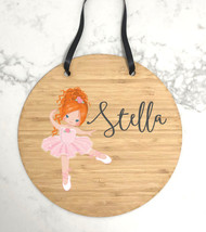 Custom ballerina name plaque