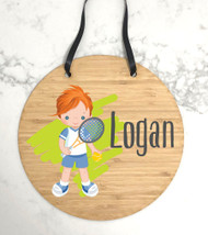 Kids bedroom tennis door decor