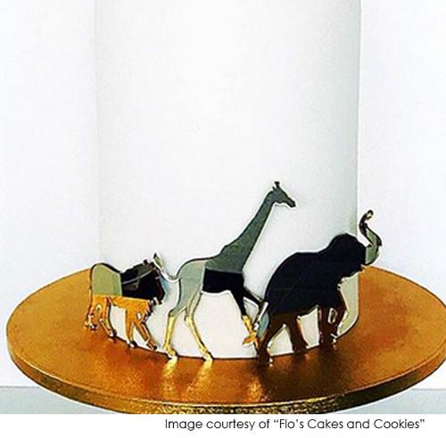 Safari Animals Silhouette Decorator Kit - Cake decorations laser cut in Melbourne Australia