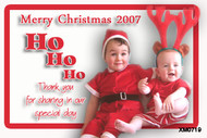 Red and white themed Xmas photocards made using photos