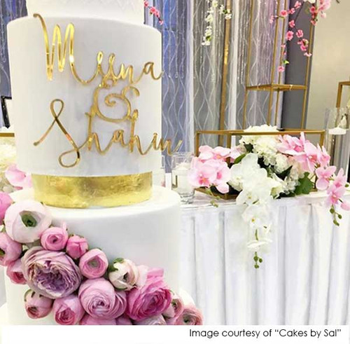 Cake Plaque in gold mirror