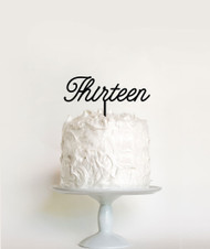 Thirteen birthday cake topper