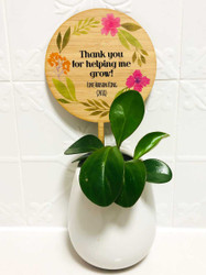 Teachers Gift Thank you For helping me Grow Plantpot Stick
