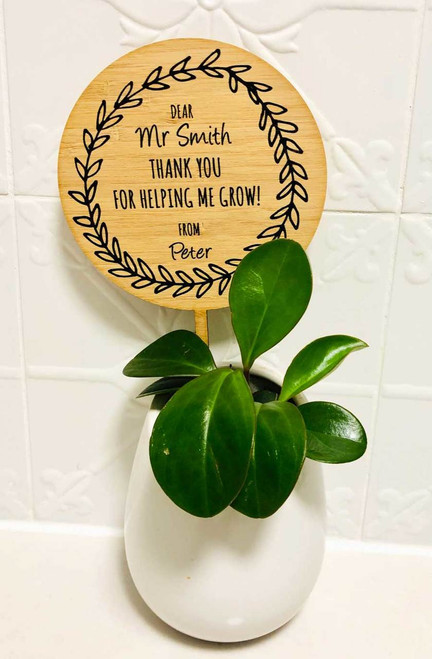 Teachers Gift Thank you For helping me Grow Planter Stick