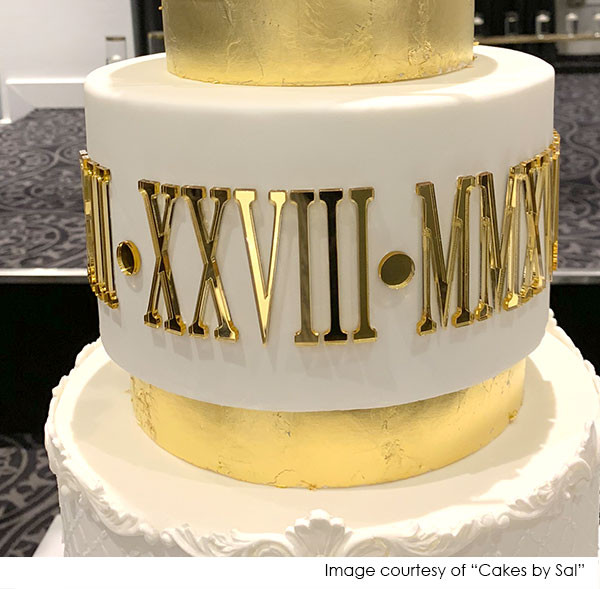 Roman Numeral Dates For Cakes