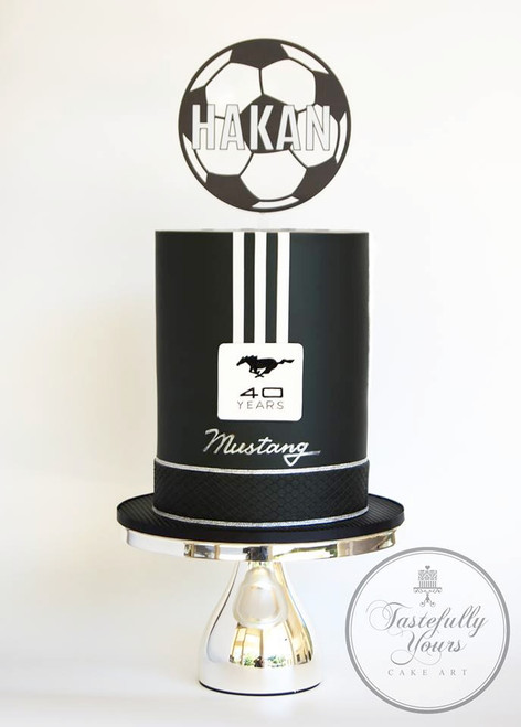 Floating soccerball cake topper for soccer themed birthdays and parties. Australian made.