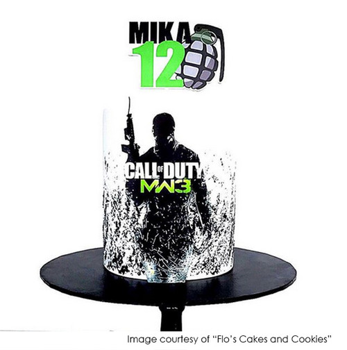 Call of Duty Cake topper, Cake by Flo's Cakes and Cookies