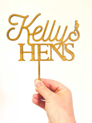 Hens Night Cake Topper - Personalised Name Hens Party Cake Topper Decoration