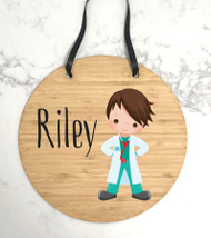 Personalised Doctor wall hanging name sign