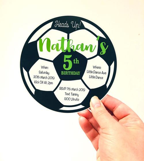 Soccerball Invitation