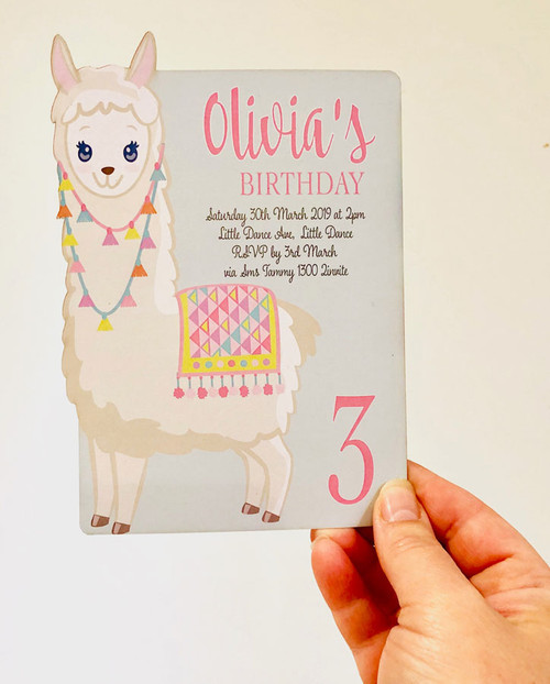 Llama Party Invitation