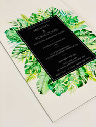 Beautiful vibrant acrylic invitations