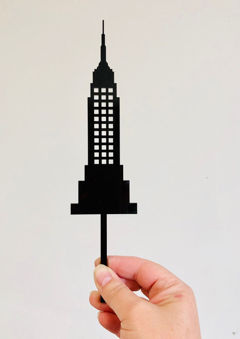 Empire State Building Cake Topper - Empire State Building Wedding Cake Decoration. Laser cut.