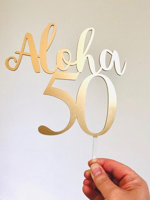 Aloha & Age Custom Cake Topper