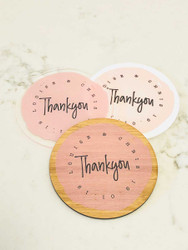 Thank you Custom drink coasters