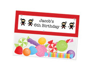 Birthday Party Lolly Bag Toppers - Little Ninja