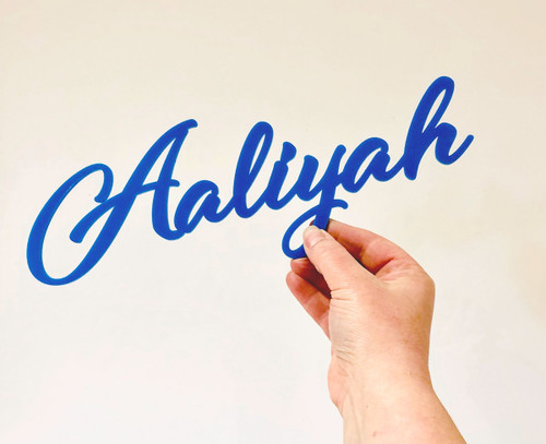 Large acrylic Name / word signs - perfect for kids bedroomd decor weddings and Christenings. Made in Australia