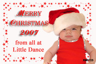 Personalised photo Christmas card for sale online -red background