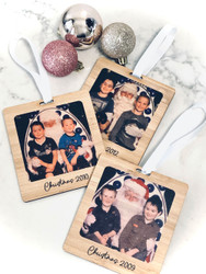 Personalised bamboo photo decorations