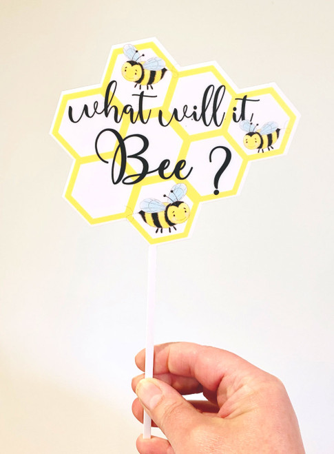 What will it Bee? Baby Shower acrylic Cake Topper
