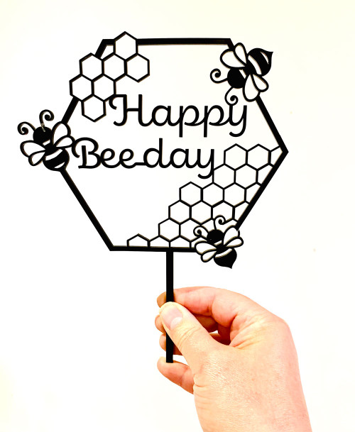 Happy Bee-day Cake Topper
