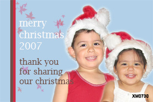 Personalised photo Christmas card for sale online