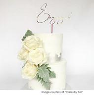 Engagement Party Cake Topper - Elegant Engaged