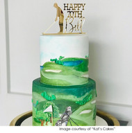 Golf Birthday Cake Topper decoration - Personalised Golf Cake Decorations