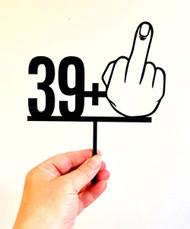 Rude 40th Birthday Cake Topper - Funny Rude Finger 40th Birthday Cake Decoration made in Australia