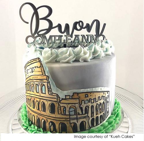 Buon Compleanno Italian Happy Birthday Cake Topper