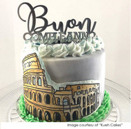 Buon Compleanno Italian Happy Birthday Cake Topper