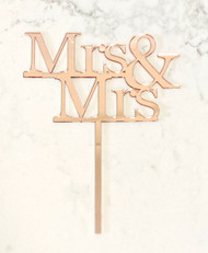 Mrs & Mrs Wedding Cake Topper - Laser cut Mr and Mrs Wedding Cake Decoration. Made in Australia
