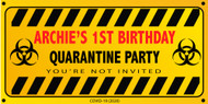 Personalised Quarantine Birthday Party Banner