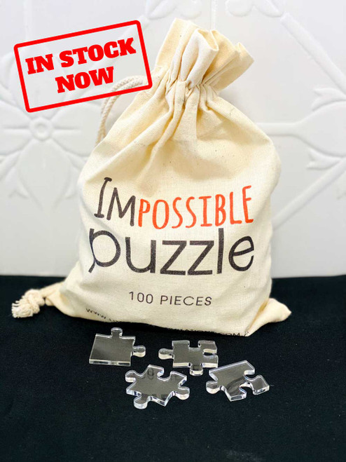 Impossible invisible clear jigsaw puzzle
