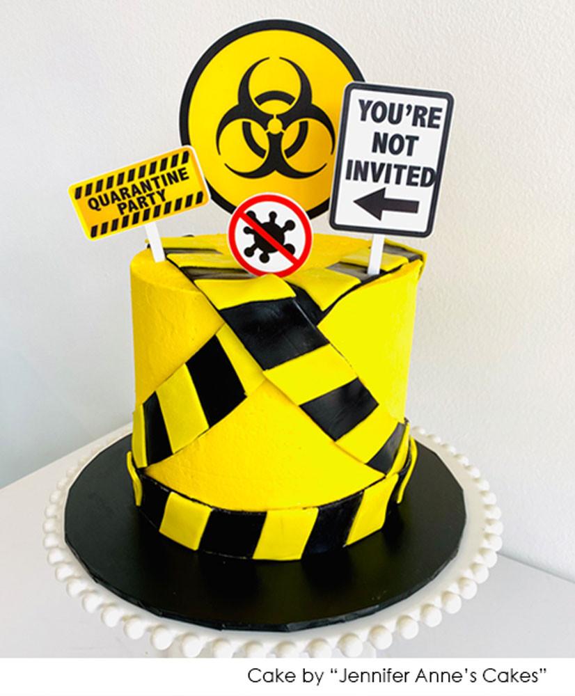 Happy Quarantine Birthday Cake Topper Quarantine Birthday Cake Decor Quarantine Party Lock down Birthday Party Decoration Suppliers