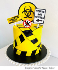 Quarantine Birthday Party Cake Topper Kit