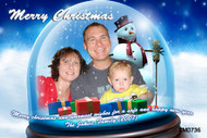 Personalised photo Christmas card for sale online - Christmas bauble theme