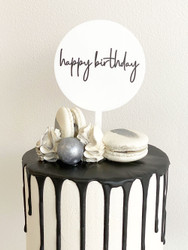 Mini Happy Birthday Cake Topper