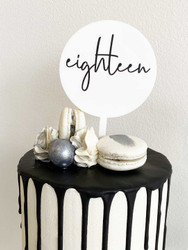 Mini Eighteen 18 Cake Topper