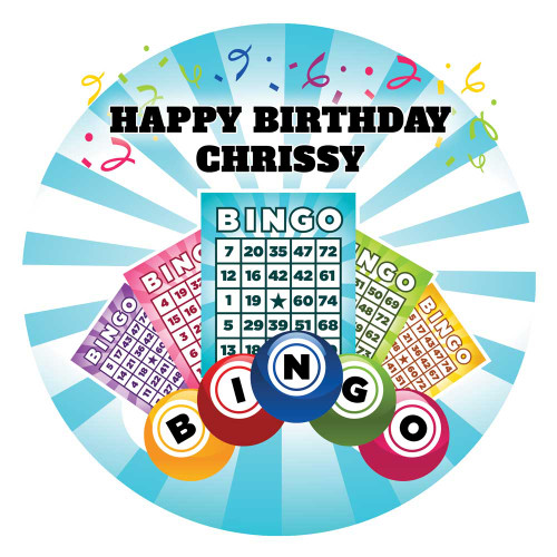 Custom Bingo themed birthday cake
