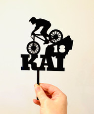 Personalised Mountain bike cake topper