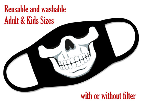 Reusable and washable Skull face mask