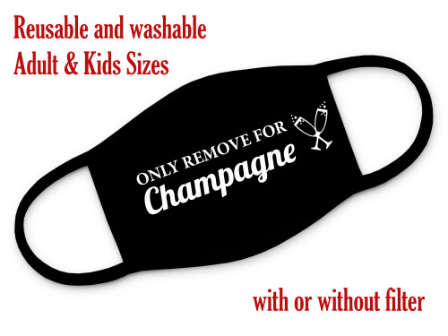 Only remove for champagne reusable and washable 3 layer mask